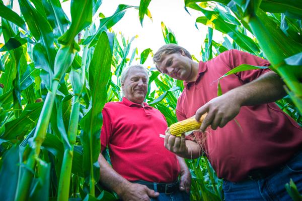 Joe and Mike with sweet corn